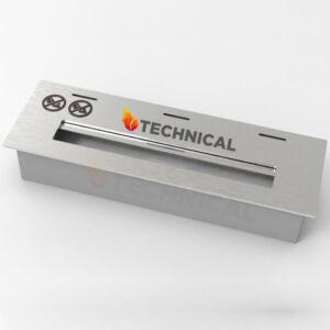 Biokandalló égő 31 cm - Rozsdamentes acélból