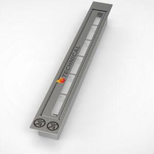 Biokandalló égő 53 cm - Rozsdamentes acélból