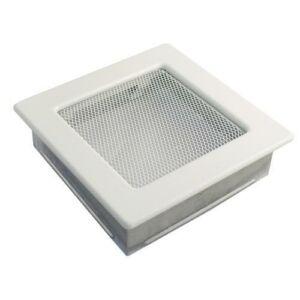 Fehér kandalló szellőzőrács 17x17 cm