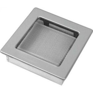 Króm kandalló szellőzőrács 17x17 cm