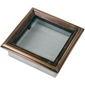 Rusztikus kandalló szellőzőrács 17x17 cm