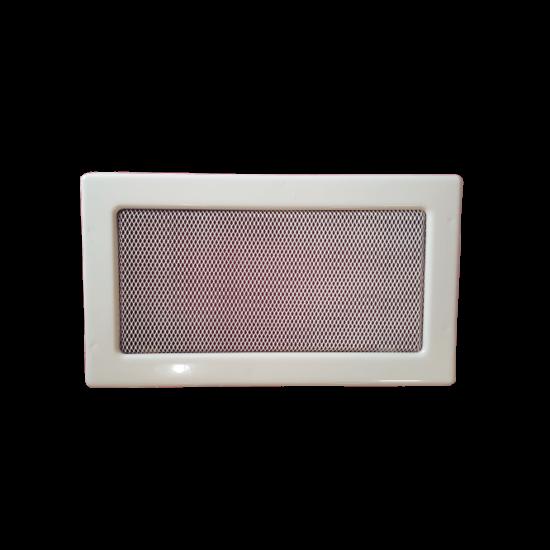 Fehér kandalló szellőzőrács 17x30 cm