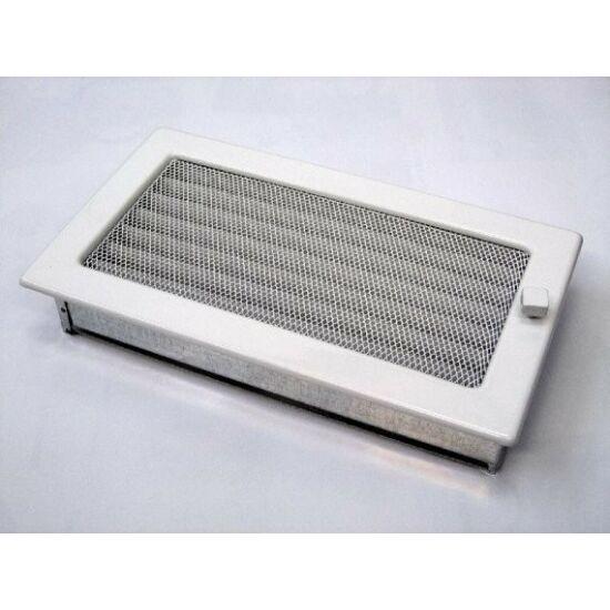 Fehér kandalló szellőzőrács - zsalus 17x30