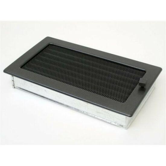 Antracit kandalló szellőzőrács - zsalus 17x30 cm