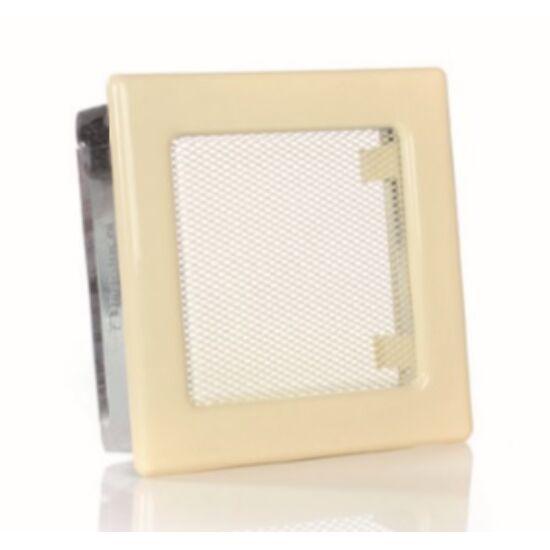 Krém kandalló szellőzőrács 17x17 cm