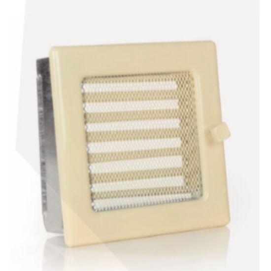 Krém kandalló szellőzőrács - zsalus 17x17 cm