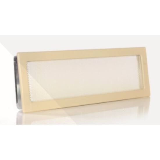Krém kandalló szellőzőrács 17x49 cm