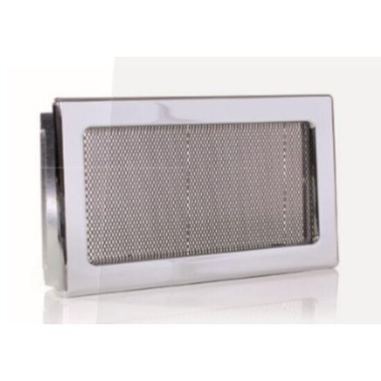 Króm kandalló szellőzőrács 17x30 cm
