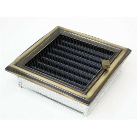 Rusztikus kandalló szellőzőrács - zsalus 17x17 cm
