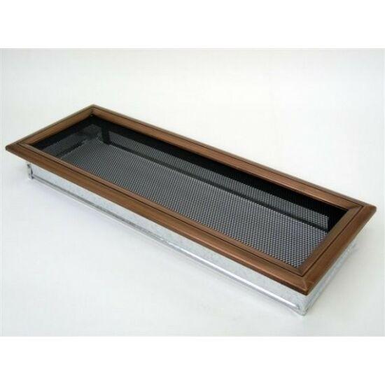 Vörösréz kandalló szellőzőrács 17x49 cm